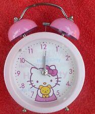 HELLO KITTY -  TWIN BELL ALARM CLOCK - BRAND NEW OLD STOCK 2003  13 x 9cm