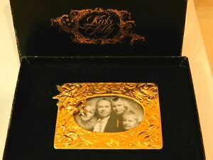 Vintage Boxed Kirks Folly Small Gold tone Embossed Photo Frame Tabletop