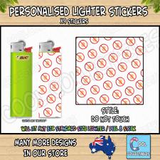 Lighter Stickers / Wrap x9 - Standard Bic Lighter - HANDS OFF / DO NOT TOUCH