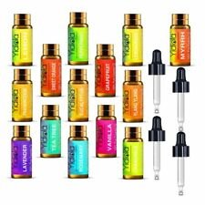 YIDIOLA Top 14 Essential Oils Set 100% Pure Therapeutic Grade Essential Oils 5ml
