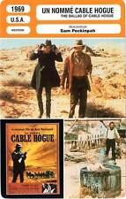 FICHE CINEMA : UN NOMME CABLE HOGUE - Robards,Stevens,Peckinpah 1969 Ballad Of