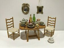 New ListingLot of Miniatures: Table, 2 Chairs, Tea Set, Mirror, Framed Tintype, Other Items
