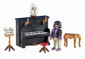 Playmobil 6527 Pianist mit Klavier Beethoven Nostalgie 1900 Neu