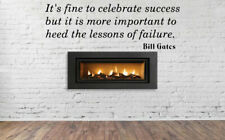 Its Fine To Celebrate Success But Phrase Word Wall Sticker Vinyl Decor NN2032