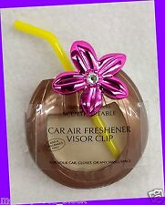 Bath & Body Works Scentportable Holder COCONUT DRINK Unit Car Visor Clip NL