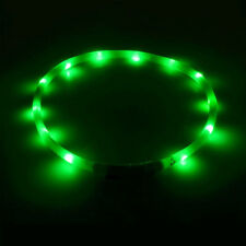 1PC USB Rechargeable Pet Dog Collar LED Light Band Waterproof Safety Belt