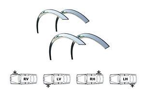 AUDI TT 8N Radlauf Zierleisten 4 Stück CHROM Vorne Hinten Styling Kit Bj. 98-06