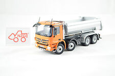"NZG art.825/65 mercedes benz actros 8x4 halfpipe ""orange"" 1:50"