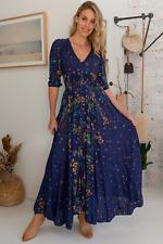 NEW Raining Flowers Maxi Dress Salty Crush Women Fashion Style Ladies