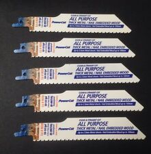 "5 x 6""/150mm Powers 10-14TPI Nail Embedded Wood Reciprocating Blades German Made"