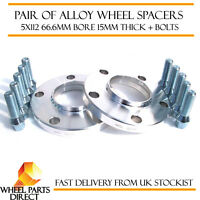 Mercedes Merc Alloy Wheel Spacers Spacer Kit 5x112 66.6 15mm + 12x1.5 OE Bolts