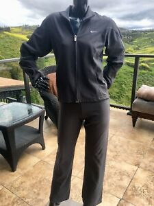 """Womens Nike Dri-Fit Running Yoga Jacket AND OR  Pant """"SMALL"""" Gray"""