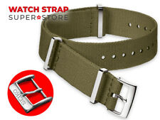 ARMY GREEN Nylon Strap Fits SEIKO NATO Watch Band For Buckle Clasp Solar 5 Sport