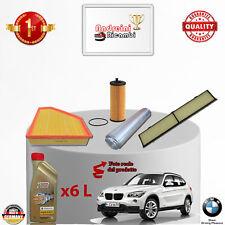 KIT TAGLIANDO 4  FILTRI E OLIO BMW X1 20D E84 130KW 177CV DAL 2011 ->