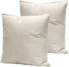 """20"""" x 20"""" Inch Feather Cushion Pads EXTRA FILL Square Cushion Inner- Pack of 2"""