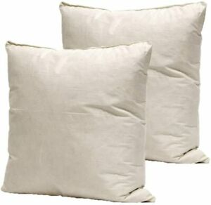 "20"" x 20"" Inch Feather Cushion Pads EXTRA FILL Square Cushion Inner- Pack of 2"