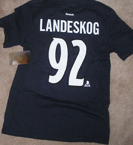 NEW NHL Gabriel Landeskog Jersey  Colorado Avalanche T Shirt Youth M 10 12 NWT
