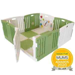 Venture All Stars Duo Baby Playpen Including Fitted Mats - Green