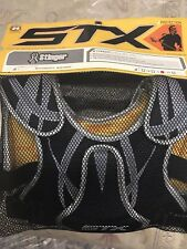 Stx Lacrosse Stinger Black Shoulder Pad for Intermediate and Beginner Size S