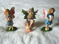 Set of 3 3.5� Fairy Garden Fairies Miniatures Nwot