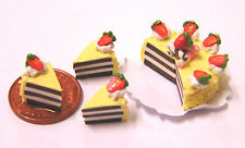 1:12 Scale Sliced Chocolate Layer Cake Dolls House Kitchen Food Accessory SC5