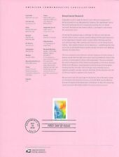 #1439 (49c+11c) First Class Breast Cancer Awareness #B5  Souvenir Page