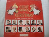 GREAT SONGS OF CHRISTMAS BY GREAT ARTISTS OF OUR TIME VINYL LP 1965 CSP STEREO