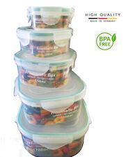 Boite Plastique Alimentaire Hermétique Conservation Lot de 5 + 2 Couteaux offert