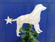 Curly Coated Retriever Dog, Doggie Tree Topper, Wreath Decor, Holiday, Christmas