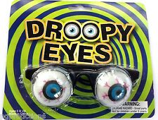 Slinky GOOFY SPRING EYES Droopy Clown Magic Joke Glasses Funny Bloodshot Eyeball