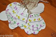Lot 1000 Oval Little Birds Birdies Print 1 X 1 5/8 Merchandise Price Tags Strung