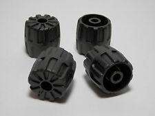 LEGO LEGOS - Set of  4  Hard Plastic Small  SPACE Wheels (22mm D. x 24mm)  BLACK