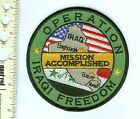Military  Patch US Navy Operation Iraqi Freedom