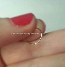 Nose Ring PURE * 24k SOLID Gold !* Small 24g Hoop Earring Cartilage Helix Tragus