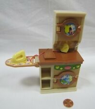 New! Fisher Price Loving Family Dollhouse Laundry Room Washer Dryer Iron Soap