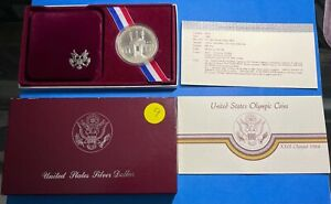 1984 Olympic US  Proof Silver Coin