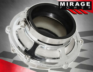 """2.5"""" / 63.5mm Inlet/Outlet JDM Race Intake Piping Air Bypass Valve Filter Silver"""