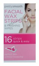 FACIAL WAX STRIP & FINISHING WIPES FOR FACE CHIN UPPER LIP JAW Pack of 16
