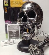 *RARE* TALKING BORIS SKULL SILVER Voice Synthesizer Box Halloween Prop VINTAGE