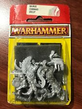 Warhammer Saurus Command Group 1990's Metal