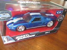 Jada - The Fast & Furious Movie - Ford Gt 1:32 Metallic Blue & White Stripes Nos