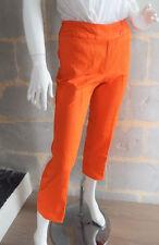 Pantalon VINTAGE 60's pantacourt orange style Sylvie Vartan