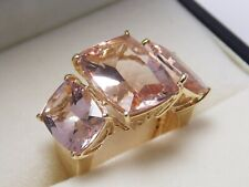 585 GG Morganit Ring Harry Ivens insgesamt ca. 10,30 ct.