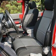 2007-10 Jeep Wrangler JK 4 Doors Black/Gray Seat Cover Kit Rugged Ridge 13295.09