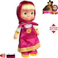 Masha cartoon Masha and The Bear Russian Soft Toys Original Licensed Sounds