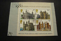 GB 1978 Commemorative Stamps~Architecture M/S~Very Fine Used Set~UK Seller