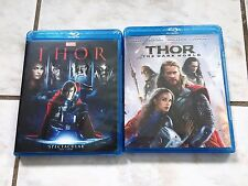 Thor 1 and Thor 2 The Dark World Blu-Ray Bundle USA Brand New