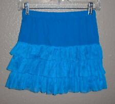 PS from Aeropostale Blue Tiered COTTON Skirt Elastic Waistband Girl's L  12