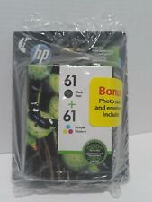 Hp 61 ink cartridge combo new With Photo Card Pack Included