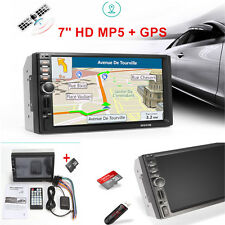 7'' HD 1080P Touch Screen In-Dash Bluetooth Car Stereo MP5 Player +GPS w/ Nav 8G